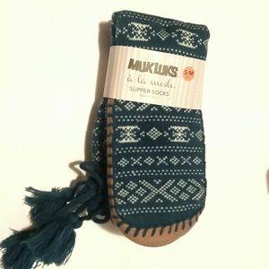 Muk Luks Slipper Socks Womens S/M